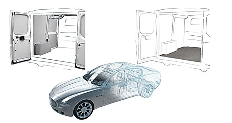 Полипропиленовые сэндвич-панели AkyDrive для автомобильной промышленности