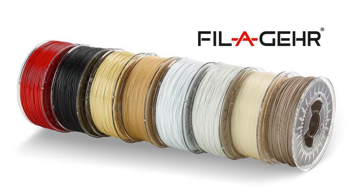 Широкий ассортимент экстрадированной пластиковой проволоки для профессиональной 3D-печати под торговой маркой FIL-A-GEHR® от компании GEHR GmbH (Германия).